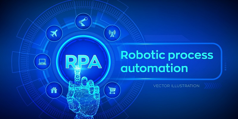 Rpa Robotic Process Automation Innovation Technology Concept On